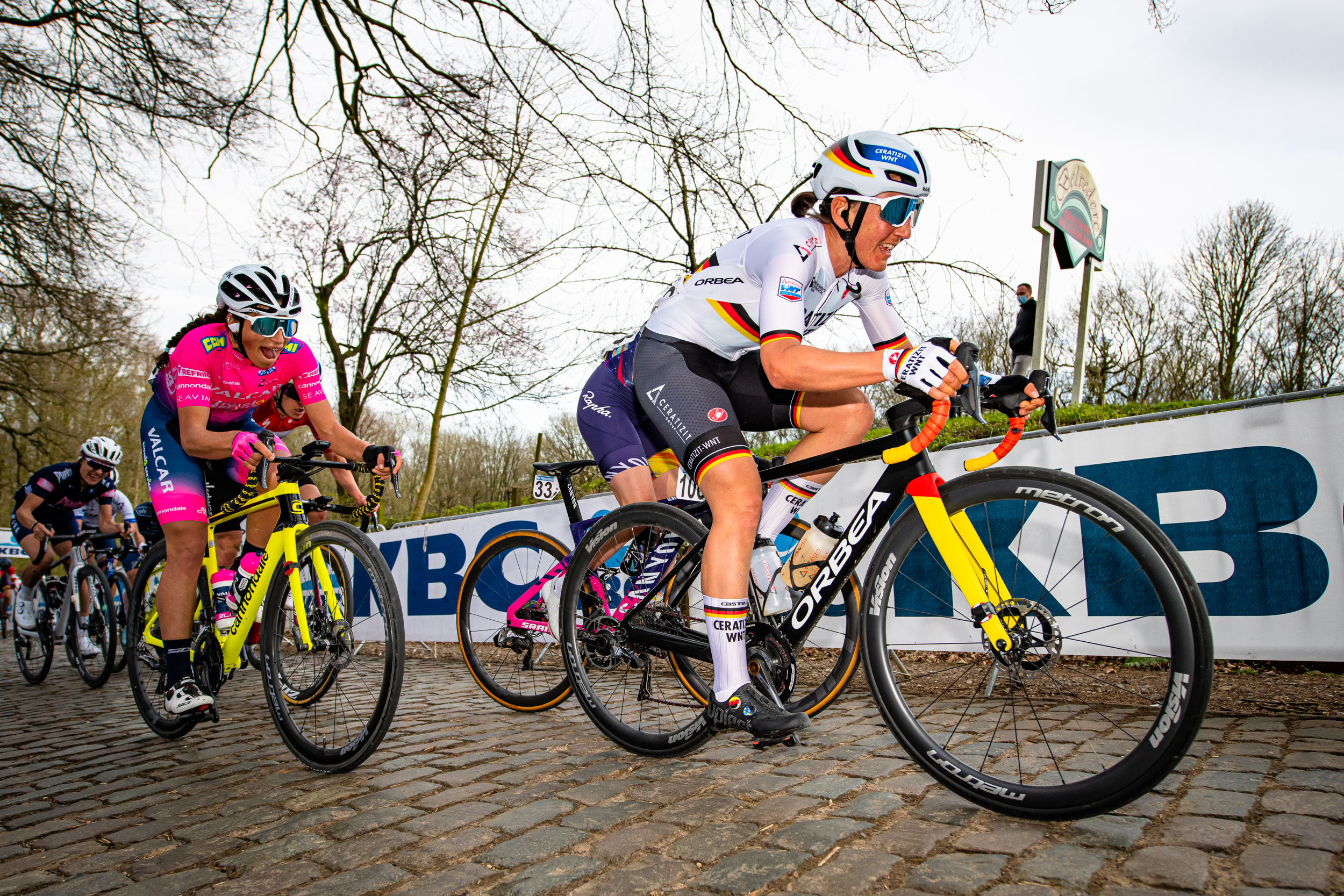 LISA BRENNAUER, THIRD IN THE GENT-WEVELGEM CLASSIC